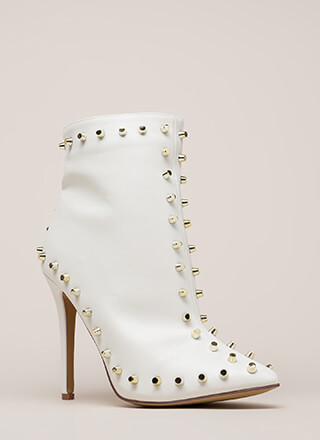 Badass Babe Pointy Studded Booties
