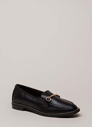 So Much Potential Studded Loafer Flats