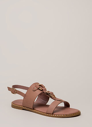 Buckled Beauty Strappy Sandals
