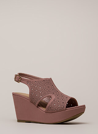 Put Rings On It Cut-Out Platform Wedges