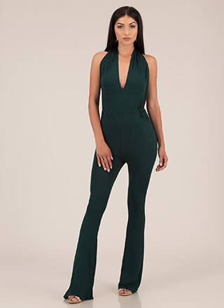 I'm The One Yeah Flared Halter Jumpsuit