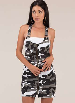 Calling All Camo Lovers Zip-Up Skirtalls