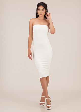 You're Everything Rib Knit Tube Dress