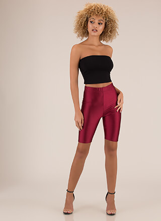 Sheen Stealer High-Waisted Biker Shorts