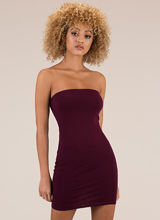 Tube Hot Too Handle Strapless Minidress
