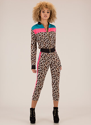 Wild Night Striped Leopard 2-Piece Set