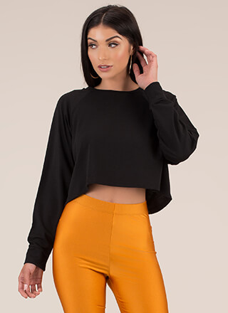Casual Relationship Oversized Crop Top