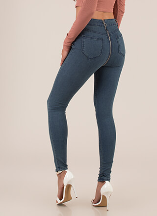 Back In Action Zip-Back Skinny Jeans