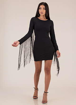 A Little Help From My Fringe Minidress