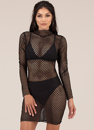 Fishnet For Compliments Minidress