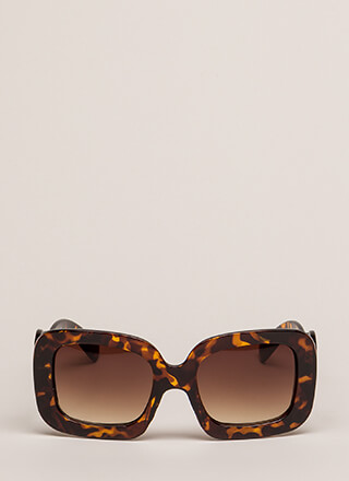 Swirly Girl Oversized Square Sunglasses