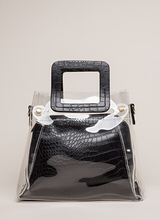What A Croc Clear Two-Piece Tote Bag