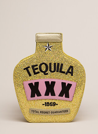 Don't Regret It Tequila Bottle Clutch