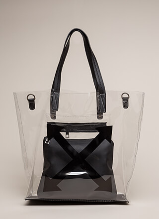 Style Intersection Clear Tote Bag