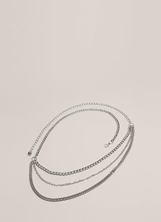 Chain Chain Chain Draped Belt