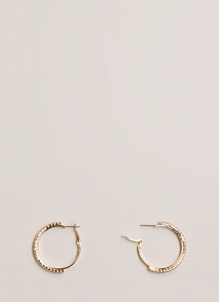 Twinkle Rhinestone Hoop Earrings