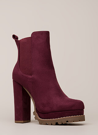 High And Mighty Platform Lug Booties
