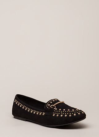 Hit The Jackpot Studded Smoking Flats