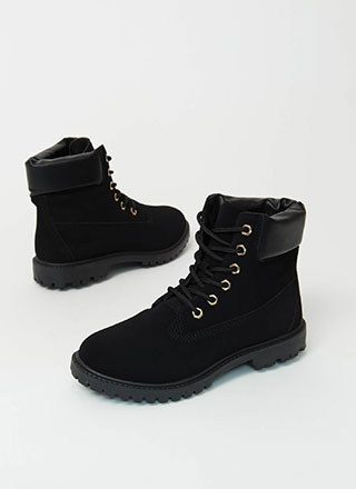 Work Ready Faux Nubuck Combat Boots