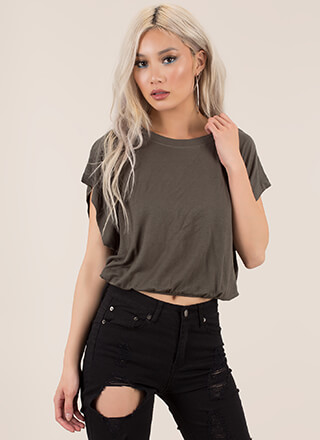 Rest And Relaxation Dolman Crop Top