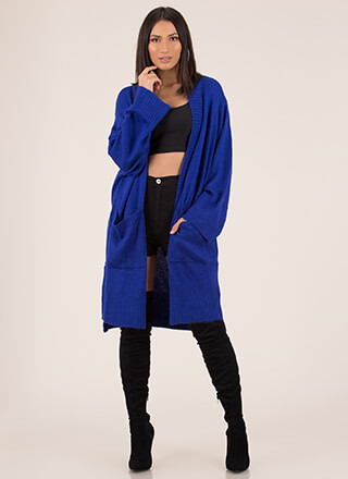 Big News Oversized Knit Cardigan