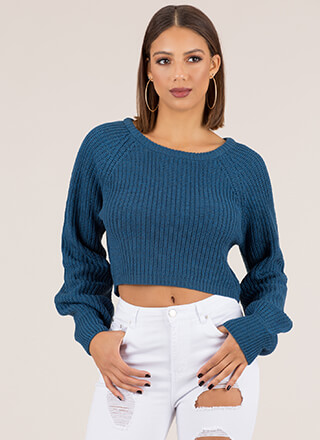 Warm Wishes Cropped Knit Sweater