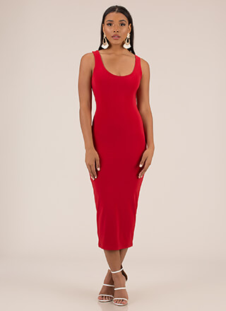 Comfort's In Zip-Back Midi Dress