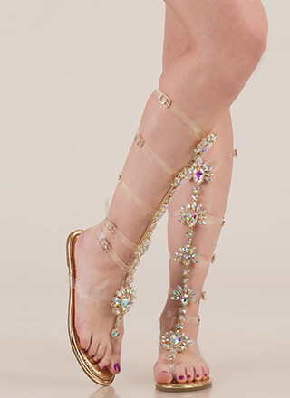 My Jewels Metallic Gladiator Sandals