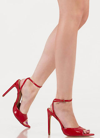 Great Point Strappy Peep-Toe Heels