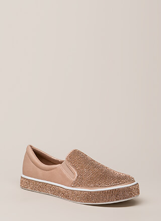Bling It Rhinestone Slip-On Sneakers