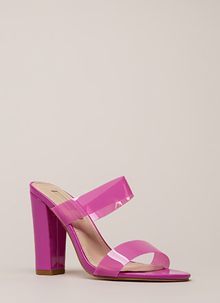 Speak Clearly Chunky Tonal Mule Heels
