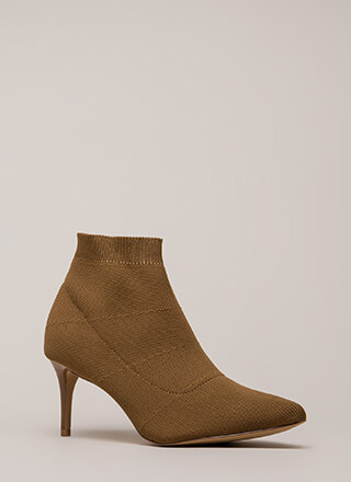 The Short Answer Knit Stiletto Booties