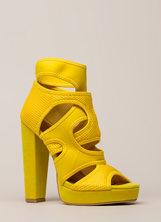 The Layers Club Cut-Out Chunky Heels