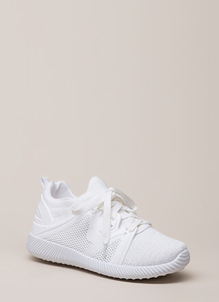 Run The World Knit Platform Sneakers