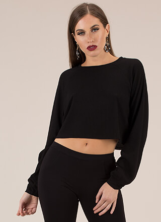 Getting Comfortable Rib Knit Crop Top