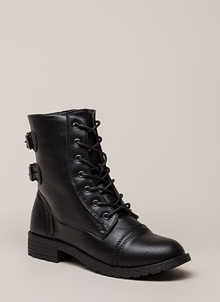 Living Legend Lace-Up Combat Boots