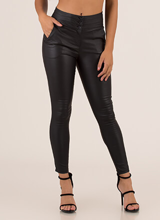 Perfect Fit Faux Leather Skinny Pants