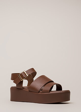 Huge Bonus Strappy Platform Sandals