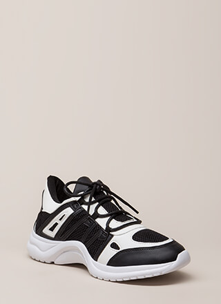 Gotta Run Stripe Accent Mesh Sneakers