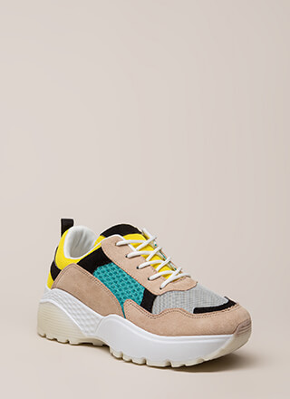 Run Across Colorblock Platform Sneakers