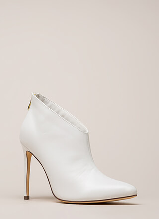 Perfect Angle Pointy Stiletto Booties