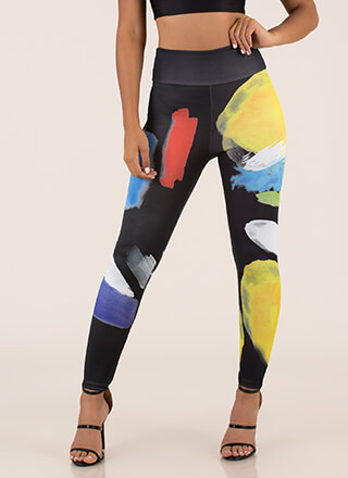 Art Class Painted High-Waisted Leggings