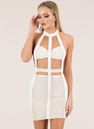Janes In Chains Cut-Out Caged Dress