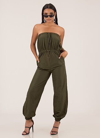 Takeoff Strapless Jogger Jumpsuit