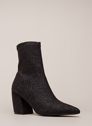 Glittery Nights Pointy Booties