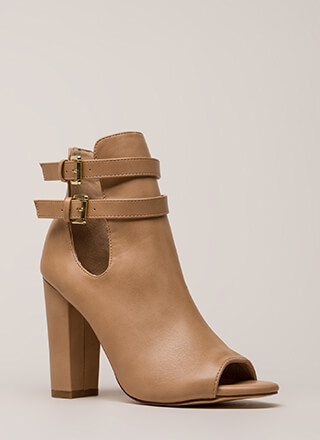 Two Perfect Cut-Out Peep-Toe Booties