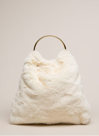Just Fur You Ring Handle Hobo Bag