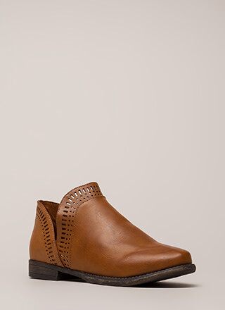 Casual Elegance Laser-Cut Booties