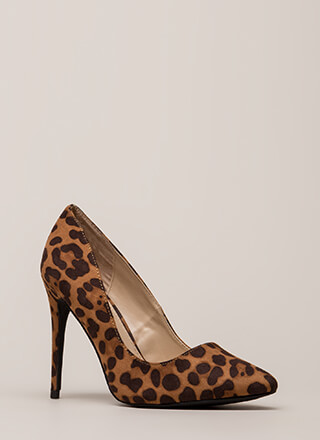 Point Blank Range Leopard Pumps