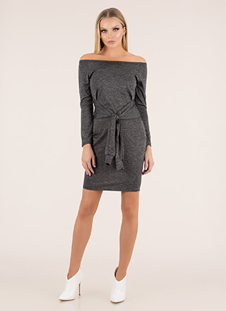 Sleeve A Message Off-Shoulder Dress